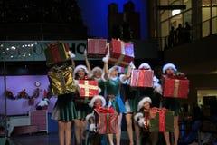 Ritratto di Santa Girls felice Fotografie Stock