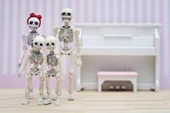 Ritratto di scheletro della famiglia Fotografia Stock
