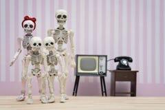 Ritratto di scheletro della famiglia Fotografia Stock Libera da Diritti