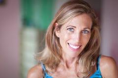 Ritratto di Serene Woman Smiling Immagine Stock Libera da Diritti