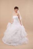 Ritratto di signora con il velo bianco Fotografia Stock