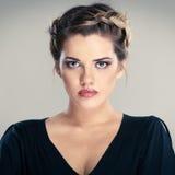 Ritratto di stile di capelli della donna fotografia stock