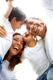 Ritratto di stile di vita della famiglia Fotografia Stock Libera da Diritti