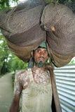 Ritratto di trascinare del Bangladesh del pescatore a rete immagine stock