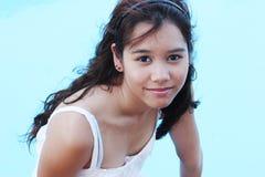 Ritratto di un adolescente abbastanza asiatico fotografia stock
