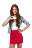 Ritratto di un adolescente del supporto di scheda fotografie stock libere da diritti