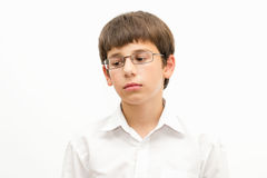 Ritratto di un adolescente triste Fotografia Stock Libera da Diritti