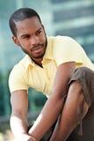 Ritratto di un afroamericano all'aperto Fotografia Stock