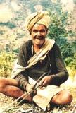 Ritratto di un agricoltore nepalese in Pokhara, Nepal Fotografia Stock