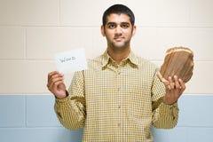 Ritratto di un allievo maschio Immagini Stock Libere da Diritti