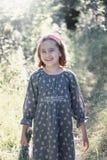 Ritratto di un bambino della bambina di estate fotografia stock libera da diritti