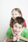 Ritratto di un bambino, di un fratello e di una sorella Immagini Stock Libere da Diritti