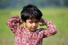 Ritratto di un bambino impertinente Fotografie Stock Libere da Diritti