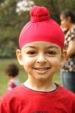Ritratto di un bambino sikh americano Fotografia Stock