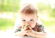 Ritratto di un bambino sveglio Fotografia Stock