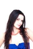 Ritratto di un brunette abbastanza positivo Immagine Stock Libera da Diritti