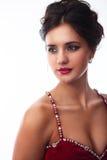 Ritratto di un brunette sveglio Fotografia Stock Libera da Diritti