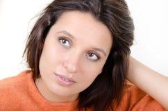 Ritratto di un brunette vago fotografie stock