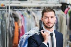Ritratto di un cliente maschio Fotografie Stock