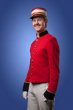 Ritratto di un concierge (portatore) Immagine Stock