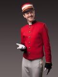 Ritratto di un concierge (portatore) Immagini Stock Libere da Diritti