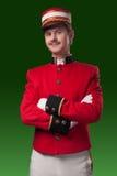 Ritratto di un concierge (portatore) Fotografie Stock