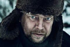 Ritratto di un contadino russo immagini stock libere da diritti