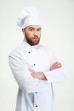 Ritratto di un cuoco maschio serio del cuoco unico immagini stock