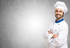 Ritratto di un cuoco unico sorridente immagine stock
