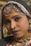 Ritratto di un danzatore di Rajasthani Fotografie Stock Libere da Diritti