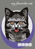 Ritratto di un gatto Fotografie Stock Libere da Diritti