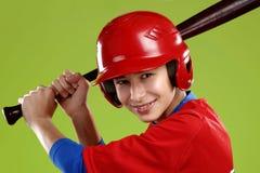 Ritratto di un giocatore di baseball teenager Fotografia Stock Libera da Diritti
