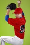 Ritratto di un giocatore di baseball teenager Fotografia Stock