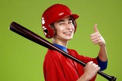Ritratto di un giocatore di baseball teenager Immagini Stock