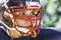 Ritratto di un giocatore di football americano Fotografia Stock Libera da Diritti