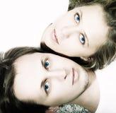 Ritratto di un giovane e di una donna delle coppie Fotografia Stock