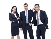 Ritratto di un gruppo multinazionale di affari Fotografia Stock