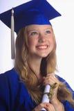 Ritratto di un laureato femminile dell'università Fotografie Stock