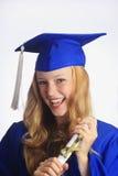 Ritratto di un laureato femminile dell'università Fotografia Stock