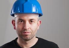 Ritratto di un lavoratore con l'espressione serena Fotografia Stock
