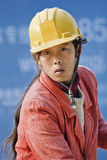 Ritratto di un muratore femminile a Pechino, Cina Fotografie Stock