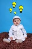 Ritratto di un neonato felice fotografia stock libera da diritti