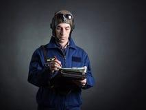 Ritratto di un pilota Fotografie Stock Libere da Diritti