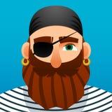 Ritratto di un pirata Stile del fumetto royalty illustrazione gratis