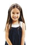 Ritratto di un primo piano felice della bambina Immagini Stock Libere da Diritti