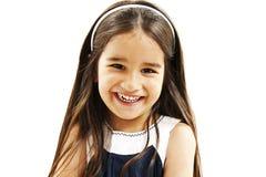Ritratto di un primo piano felice della bambina Fotografie Stock Libere da Diritti