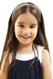 Ritratto di un primo piano felice della bambina Fotografie Stock