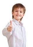 Ritratto di un ragazzino sveglio sorridente Fotografia Stock