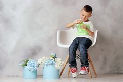 Ritratto di un ragazzo fotografie stock libere da diritti