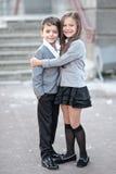 Ritratto di un ragazzo e di una ragazza Fotografie Stock Libere da Diritti